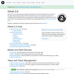 2.0 — OAuth