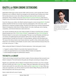OAuth 2.0 from Chrome Extensions
