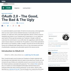 OAuth 2.0 – The Good, The Bad & The Ugly