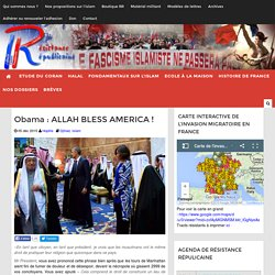 Obama : ALLAH BLESS AMERICA