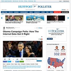 Obama Campaign Polls: How The Internal Data Got It Right