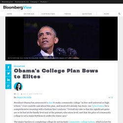 Obama's College Plan Bows to Elites