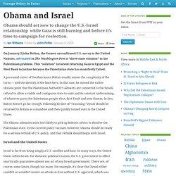 Obama and Israel