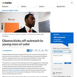 Obama kicks off outreach to young men of color