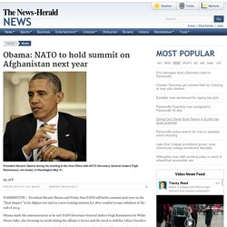 Obama: NATO to hold summit on Afghanistan next year