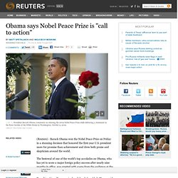Obama wins Nobel Peace Prize to mixed reviews | U.S.