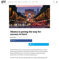 Obama is paving the way for success in Paris