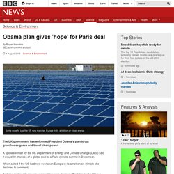 Obama plan gives 'hope' for Paris deal - BBC News