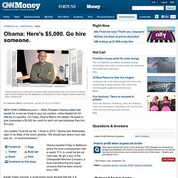Obama plans $33 billion tax credit for jobs and wages - Jan. 28,