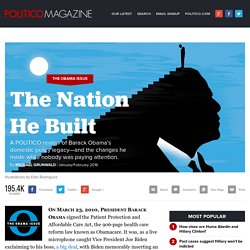 Obama's Policy Legacy: The Nation He Built