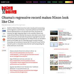 Obama's regressive record makes Nixon look like Che