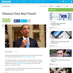 Obama's First Real Tweet!