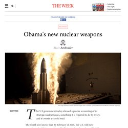 Obama's new nuclear weapons