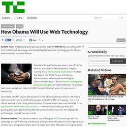 How Obama Will Use Web Technology