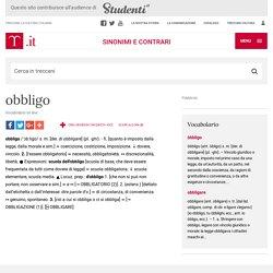 """obbligo in """"Sinonimi e Contrari"""""""