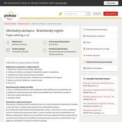 Obchodný zástupca - Bratislavský... 13/02/2016