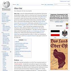 Ober Ost - wikipedia