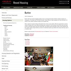 College | Resed Housing | Burton
