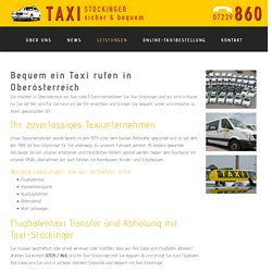 Taxi rufen - Taxi-Stockinger GmbH