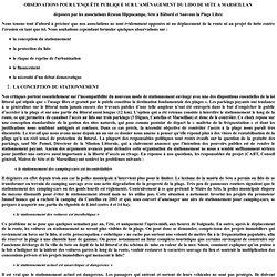 Obervations pour l'enquête publique sur l'aménagement du lido d