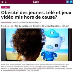 Obésité des jeunes: télé et jeux vidéo mis hors de cause?