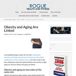 Obesity and Aging Are Linked