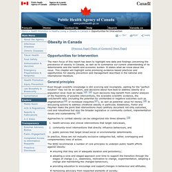 Obesity in Canada - Healthy Living