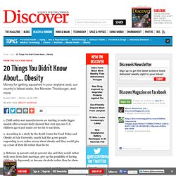 20 Things You Didn't Know About... Obesity | Obesity