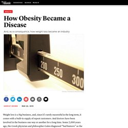 How Obesity Became a Disease — The Atlantic
