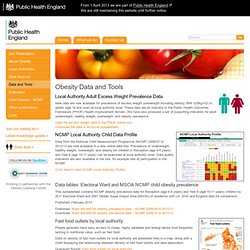 Obesity data visualisation :: National Obesity Observatory