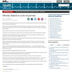Obesity linked to cycle of poverty
