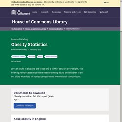 Obesity Statistics - House of Commons Library