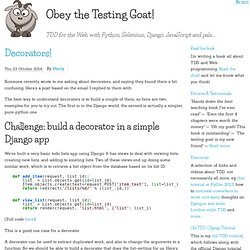 Obey the Testing Goat!