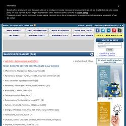 Bandi Europei Aperti - Obiettivo Europa - Il portale dei Finanziamenti Europei