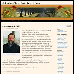 Obituaries – Thayer Carter Funeral Home