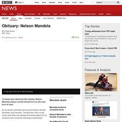 Obituary: Nelson Mandela