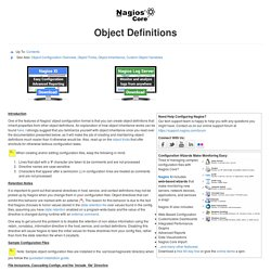 Object Definitions