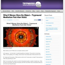 What If Money Were No Object - Trypnaural Meditation Feat Alan Watts