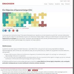 Els Objectes d'Aprenentatge (OA) - Snackson