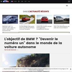 """L'objectif de BMW ? """"Devenir le numéro un"""" dans le monde de la voiture autonome - Automoto - TF1"""