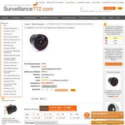 1/3 Objectif 2.1mm F2.0 150 Degrés pour Caméra de Surveillance