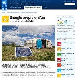 PNUD Objectif 7: Énergie propre et d'un coût abordable [ressource]