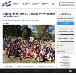 Objectif Bien-être au Collège international de Valbonne ! - Trousse à Projets