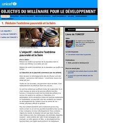 L'objectif : réduire l'extrême pauvreté et la faim