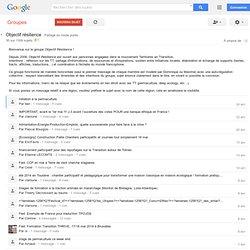 Objectif résilience - Google Groupes
