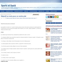 Objectif un mois pour un ventre plat ~ Sports et Santé