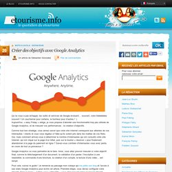 Créer des objectifs avec Google Analytics