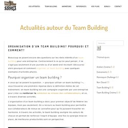 Intérêt et objectifs du team building pour une entreprise