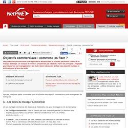 Fixer des objectifs commerciaux - fiche conseil NetPME