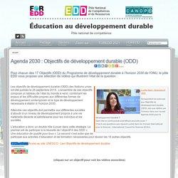 Agenda 2030 : Objectifs de développement durable (ODD)